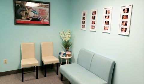 Our waiting area for 3d ultrasound appointments